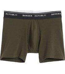 boxer verde-negro  banana republic