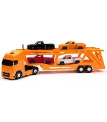 caminhão voyager cegonheira laranja - roma