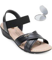 sandália modare ultra conforto e espelho feminina - feminino