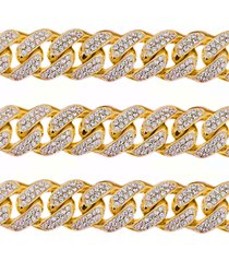 1 kilo solid yellow gold miami cuban link chain 22 mm 100 carats real diamond