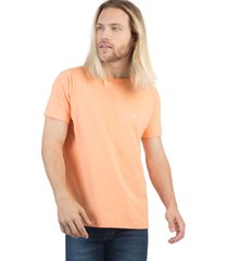 t-shirt básica fit salmao salmao/gg - kanui