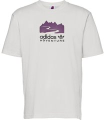 adventure logo tee t-shirts short-sleeved vit adidas originals
