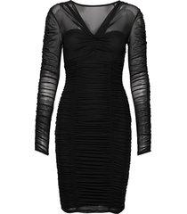 adrianna dress knälång klänning svart guess jeans