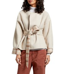 women's michael stars laura portola double face wool blend jacket