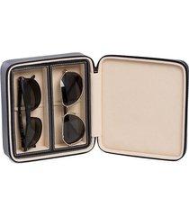 bey-berk sunglass leather travel case - black