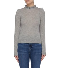 'josefine' ruffle mock neck cashmere sweater