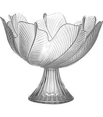 fruteira de mesa, lojas carisma centro de mesa em vidro trabalhado resistente - branco - dafiti