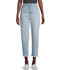 true religion women's starr high-rise cropped frayed-hem straight jeans - future wife - size 24 (0)