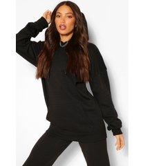tall oversized hoodie, black