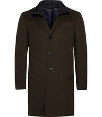 cashmere coat - sultan tech yllerock rock grön sand