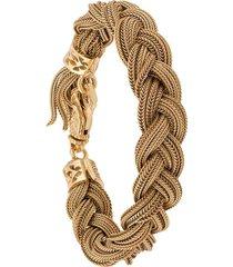 emanuele bicocchi woven strap bracelet - gold