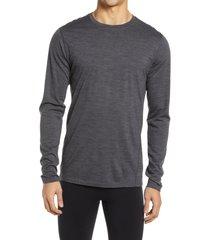 men's smartwool 150 merino wool men's base layer shirt, size xx-large - grey