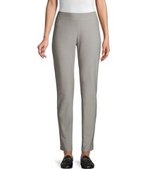 eileen fisher women's slim-fit ankle pants - cocoa - size l