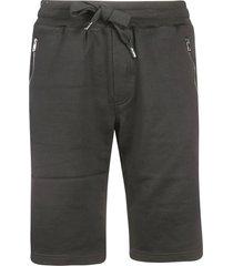 dolce & gabbana logo embroidered track shorts