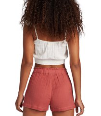 women's roxy gone on by shorts, size x-large - red