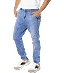 jeans jogger moda azul corona