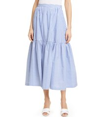 women's staud orchid stripe skirt