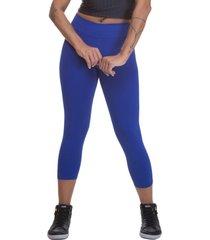 calça legging miss blessed capri suplex azul royal