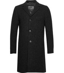 ian wollen jas lange jas zwart brixtol textiles