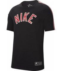 camiseta nike air para hombre - negro