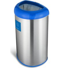 nine stars group usa inc 13.2 gallon open top trash can with recycle magnet