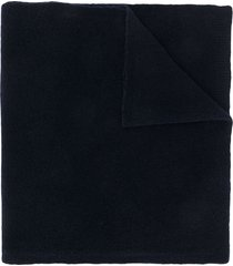 christian wijnants chunky knit scarf - blue