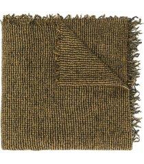 faliero sarti micro-plaid scarf - yellow