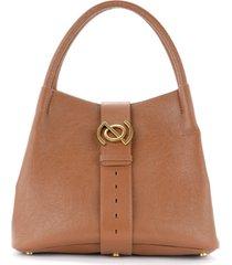 zanellato shoulder bag zoe m model j.moore line in tobacco embossed leather