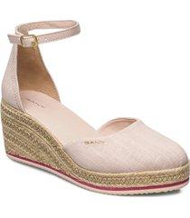 wedgeville plateau sandale sandalette med klack espadrilles rosa gant