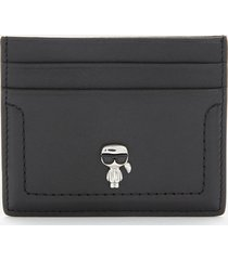karl lagerfeld women's k/ikonik 3d pin card holder - black