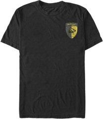 fifth sun men's hufflepuff shield short sleeve crew t-shirt