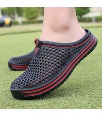 sandalias de verano moda hollow out transpirable sandalias de mujer hombre