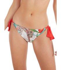 bikini selmark lage taille geknoopte zwempakbodem wit kasjmier -merrie