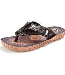 sandali da spiaggia casual in pelle sintetica con fibbia in metallo