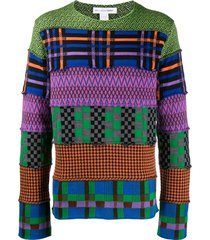 comme des garçons shirt colour-block sweater - green