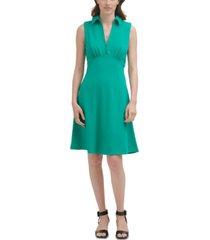calvin klein collared a-line dress