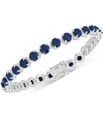 sapphire tennis bracelet (17 ct. t.w.) in sterling silver