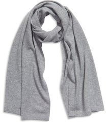 nordstrom wool & cashmere scarf in grey heather at nordstrom