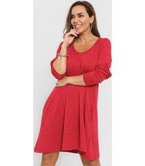 vestido rojo minari lanilla bucle