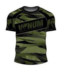 rash guard venum army camo ventura manga curta masculino