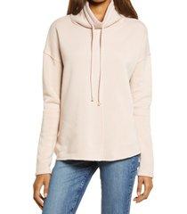 women's treasure & bond cowl tie neck sweatshirt, size xx-small - pink