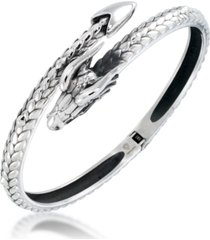 andrew charles by andy hilfiger men's dragon bangle bracelet in stainless steel