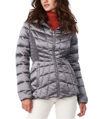 bernardo quilted packable water-resistant puffer coat