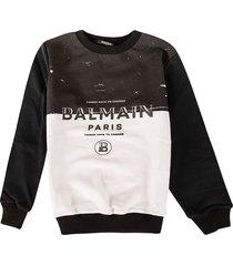 balmain colorblock logo sweatshirt