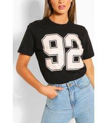 92 collegiate t-shirt, black