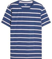 camiseta m/c a rayas gruesas azules color azul, talla l