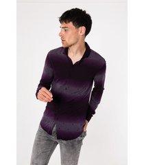 camisa violeta tascani azalin