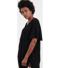 blusa con botones negro night concept
