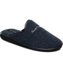 felt slipper slippers tofflor blå hush puppies