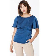 blusa azul sans doute comet